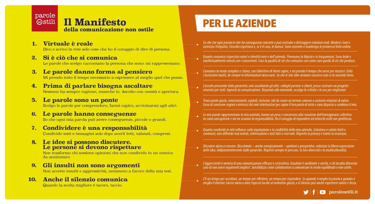Manifesto Comunicazione non Ostile con Villaggio Saggio